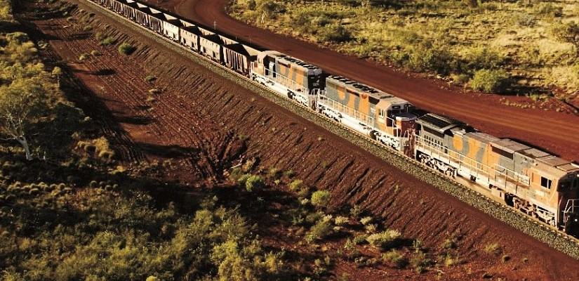 Iron ore train - credit BHP Billiton