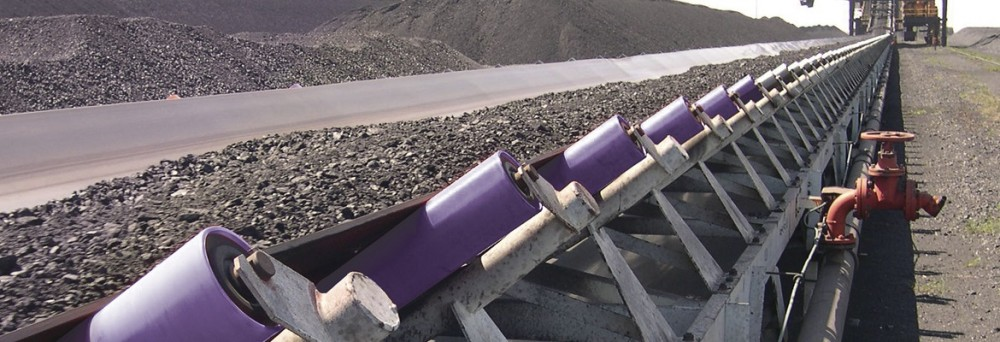 CoreTech nylon rollers in operation at the mine.