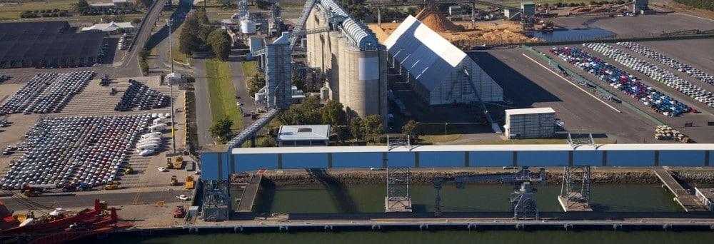Port of Brisbane grain terminal. Photo: Port of Brisbane