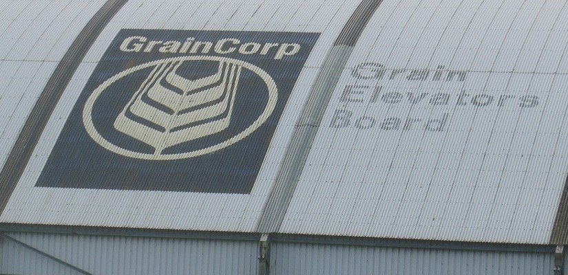 GrainCorp shed at the Port of Portland. Photo: David Sexton