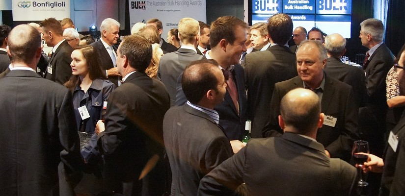 Attendees mingling at the 10th Australian Bulk Handling Awards. Photo: Greg Dickins