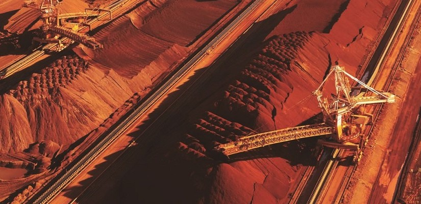 Iron ore stockpiles at Port Hedland. Photo: BHP Billiton