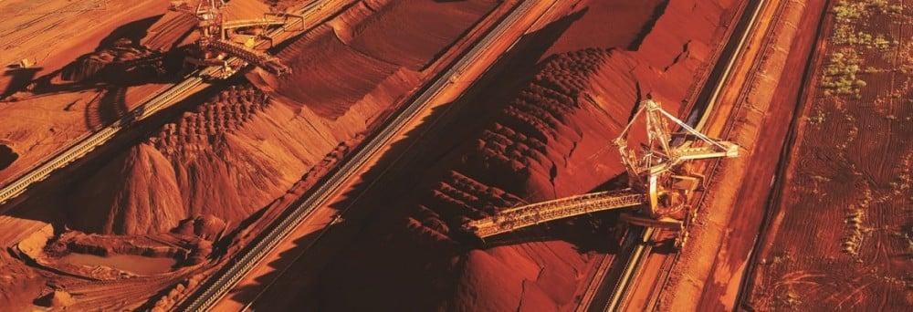 Iron ore stockpiles at Port Hedland. Photo: BHP Billiton