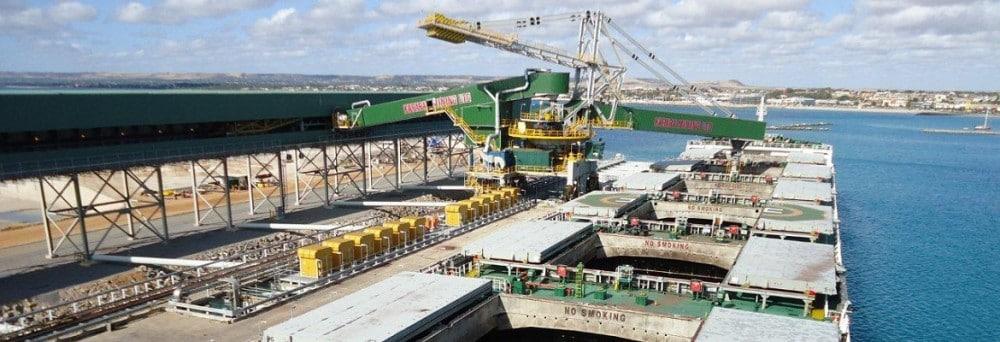 The Karara export terminal at Geraldton Port in WA. Photo: Karara