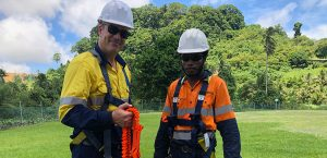 Wesley Dobbin (L) says keeping workers engaged is important to the success of a training program.