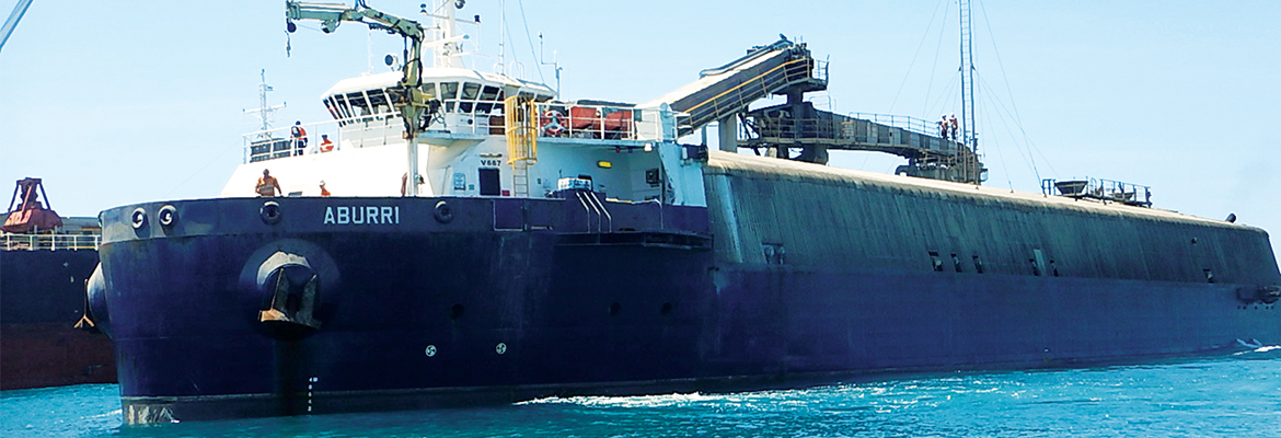 Fenner Dunlop and Australian Conveyor Engineering have set sail to Singapore to undertake a major conveyor overhaul on the shipping vessel MV Aburri.