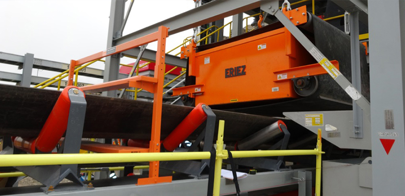 The Eriez SE-7000 Series Suspended Electromagnets (SE) removes damaging tramp iron such as rock bolts, star pickets and sections of rail tracks from coal, limestone, sand, gravel, other ores and almost any conveyed nonferrous material.