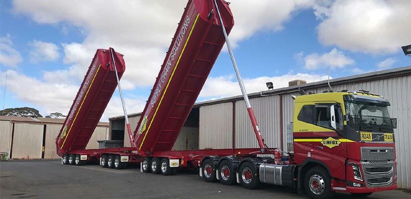 Logistics company Linfox has unveiled a new custom designed tipper trailer for its coal run in Illawarra.