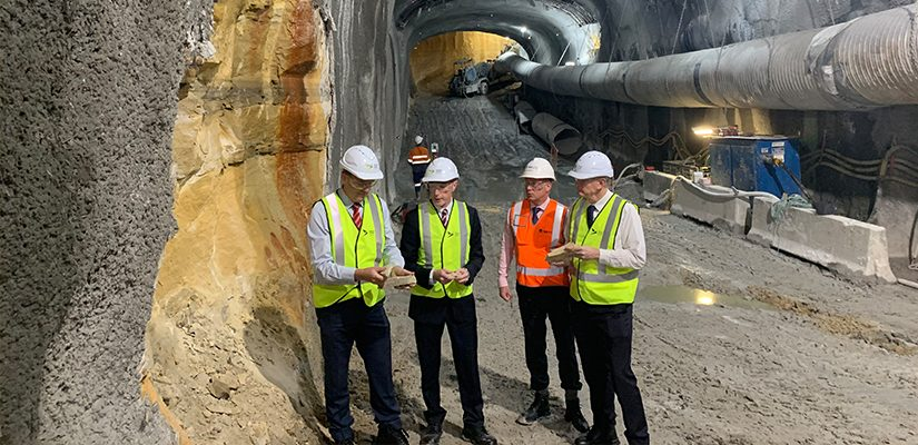 Sandstone excavated from Sydney Metro tunnel boring machines (TBM) will be recycled to to build the new Western Sydney International airport.