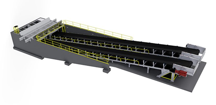 Fenner Dunlop has designed and manufactured a low-cost unloading station, built to receive and transport a variety of bulk materials from directly underneath a railcar.