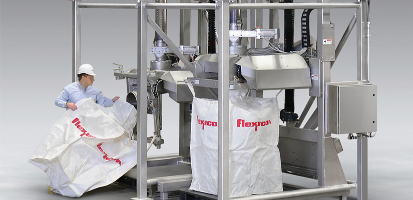 Flexicon has unveiled a new sanitary bulk bag filling system capable of achieving fill rates of up to 40 bulk bags per hour.