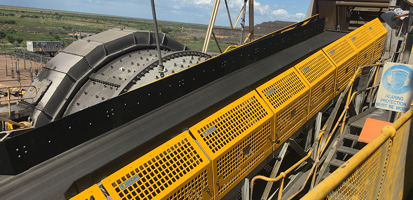 Conveyor safety guard manufacturer Diacon Australia has created a system that uses high-strength plastics instead of steel to protect staff on bulk handling sites.