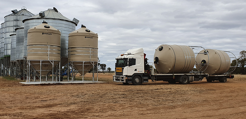 Australian manufacturer Enmach offers silos with competitive durability and a 20-year lifespan, but they're not made of steel.
