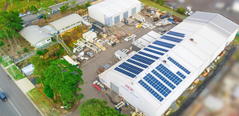 Fenner Dunlop's ACE branch in Somersby has installed around 243 solar panels to reduce its carbon footprint.