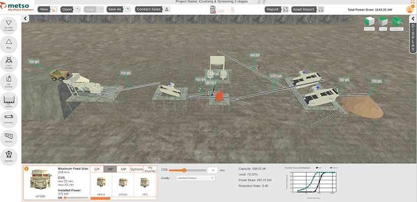Metso has launched a digital plant planner to help design more productive and efficient crushing and screening plants.