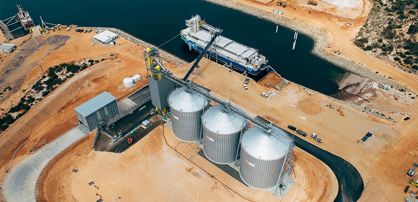 A new export grain terminal at Lucky Bay in South Australia is now fully-operational, providing local grain farmers with a much-needed alternate storage and export option for the region.