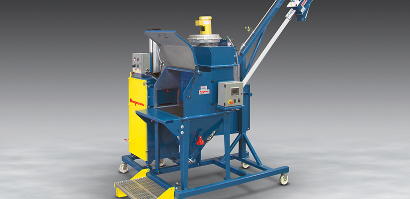Flexicon has released a new mobile bag dump station with flexible screw conveyor and bag compactor to transfer material from handheld sacks, pails and boxes into elevated process equipment and storage vessels.