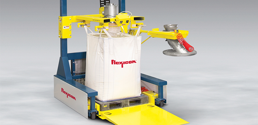 Flexicon has released a new low-profile, combination bulk bag/drum filler that can fill bulk bags and drums in low headroom areas.