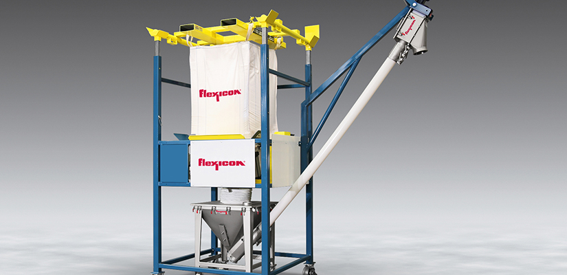 Flexicon has released a new Mobile Bulk Bag Discharger with Mobile Flexible Screw Conveyor that allows for dust-free discharging and conveying of bulk solid materials.