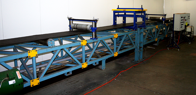 Figure 1: Large Sample Indentation Rolling Resistance rig at TUNRA Bulk Solids, the University of Newcastle